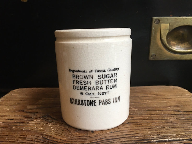 Double sided 'Kirkstone Rum Butter' 8oz pot