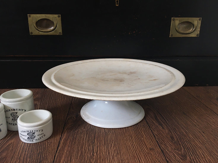 19thC Antique ironstone cake stand