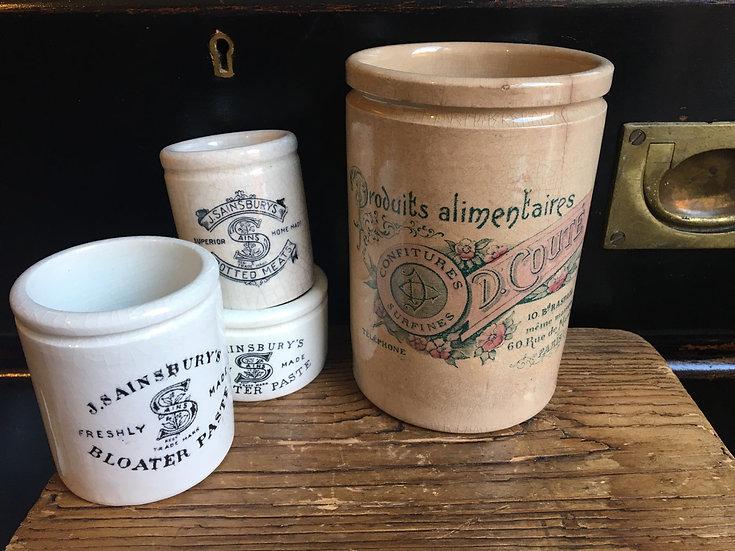 Antique French confitures pot - D. Couté