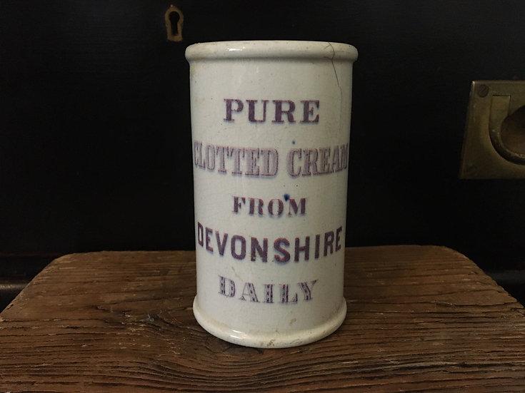 Antique ironstone devonshire clotted cream pot