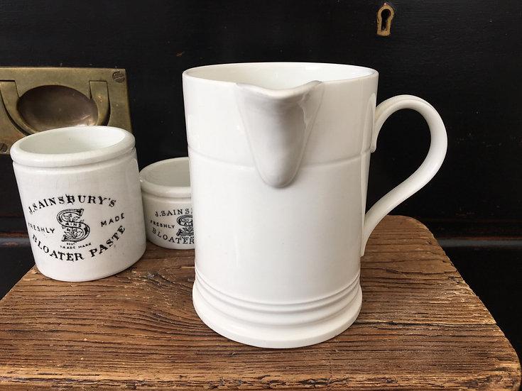 Antique white ironstone syrup jug Societe Ceramique Maestricht