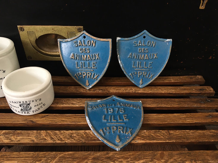 1x Vintage French Animal show prize plaque - Lille