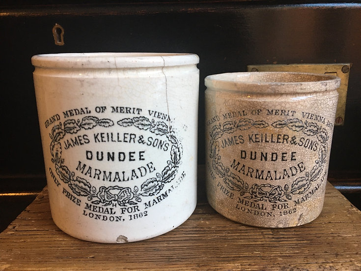 1x Antique 2lb chubby James Keiller dundee marmalade pot
