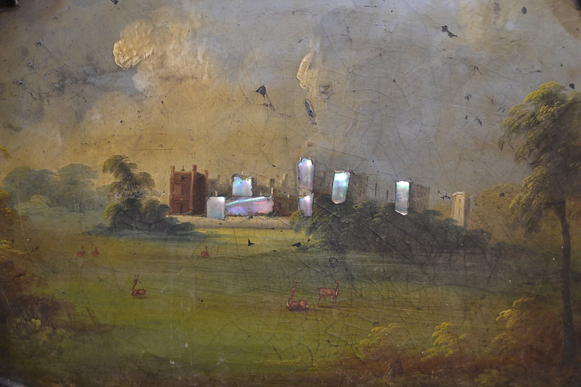 Large Regency Papier-Mache tray - Raby Castle, Durham