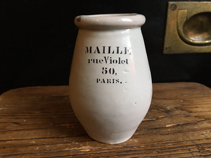 Antique French Maille mustard pot
