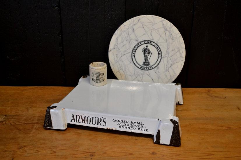 Armour's enamel display plinth