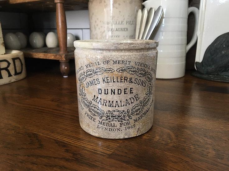 Antique ironstone 1lb James Keiller Dundee marmalade pot