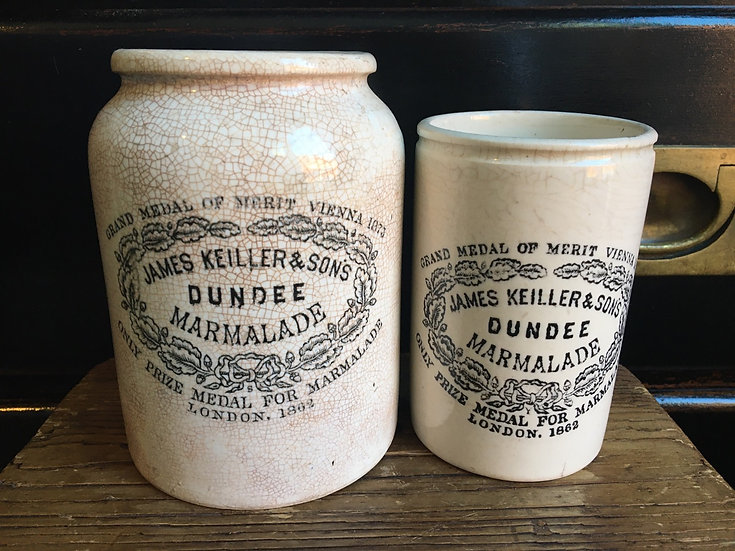 2lb James Keiller Dundee marmalade pot with rolled shoulder