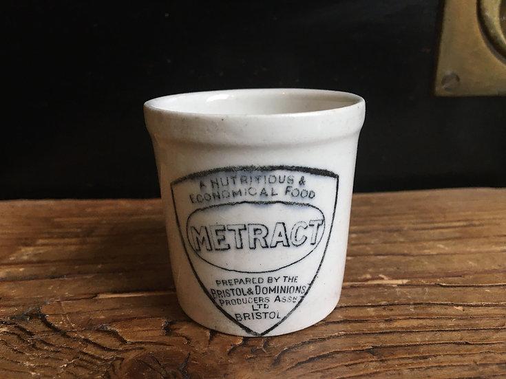 Small antique 'Metract' pot
