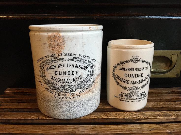 Antique 3lb James Keiller Dundee marmalade pot