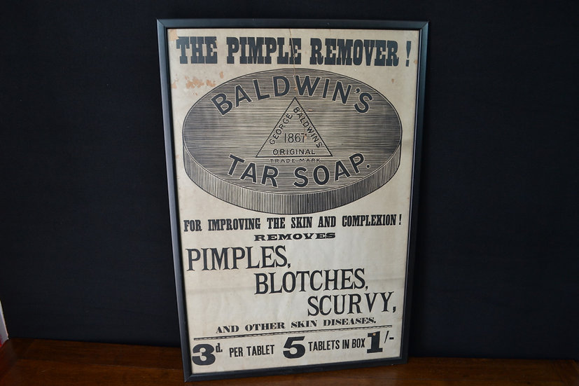 Victorian 'Baldwins Tar Soap' broadside advertisement