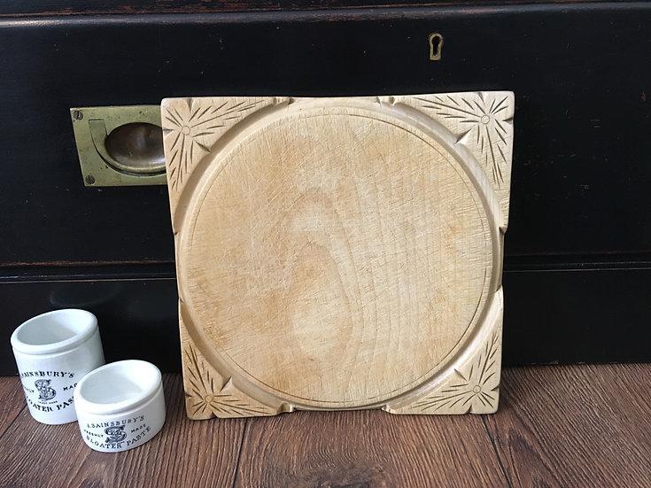 Antique square bread board