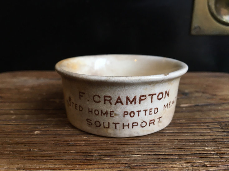Small antique ironstone Crampton potted meat pot