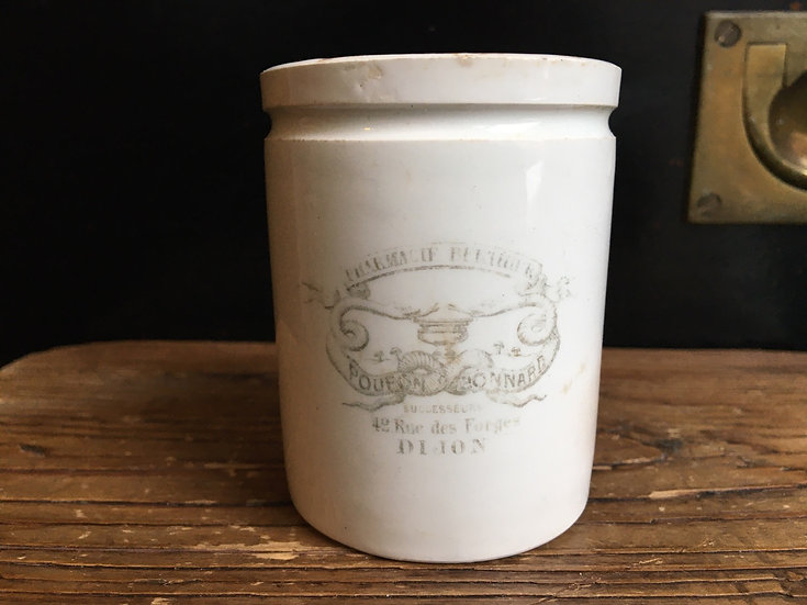 Antique French pharmacy ointment pot - Pharmacie Berthier
