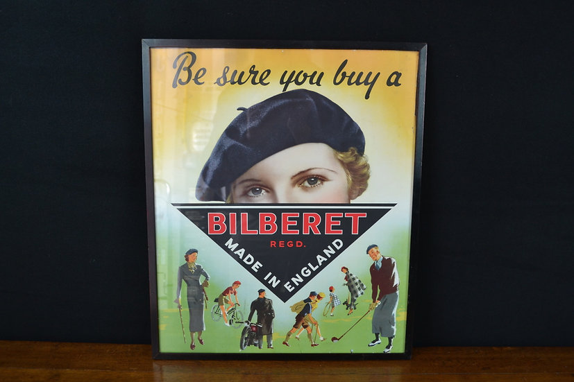 Original 1940's Bilberet lithographic poster