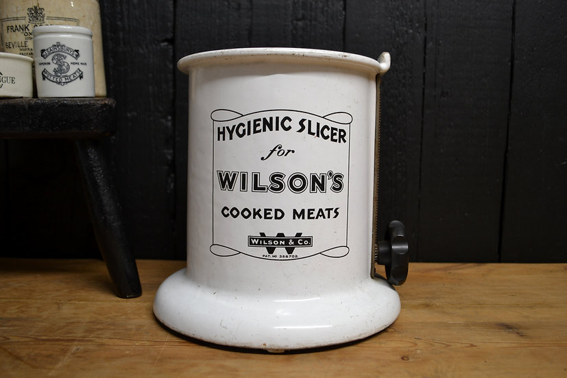 Vintage Wilson's cooked meats hygienic slicer