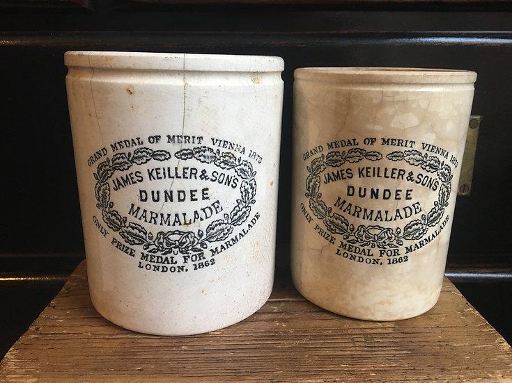 Antique ironstone 3lb James Keiller marmalade pot - Dundee marmalade crock