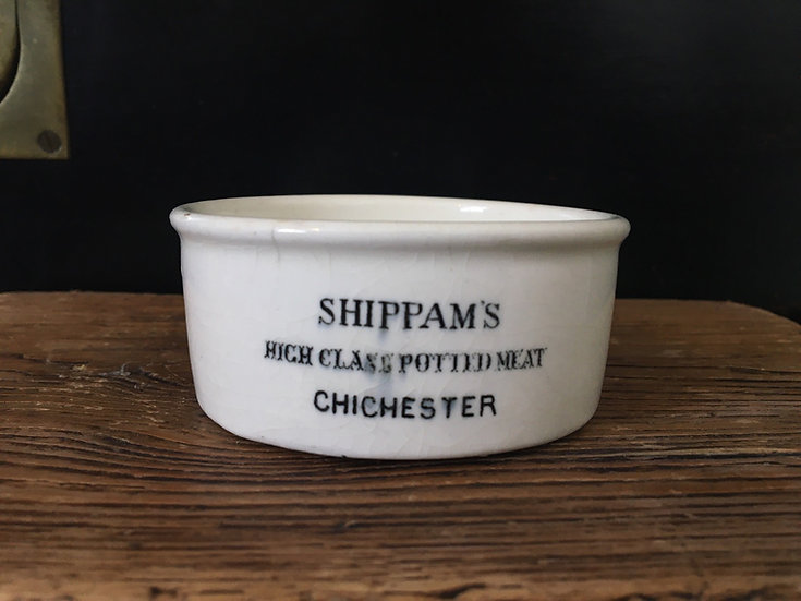 Antique ironstone Shippam's potted meat pot