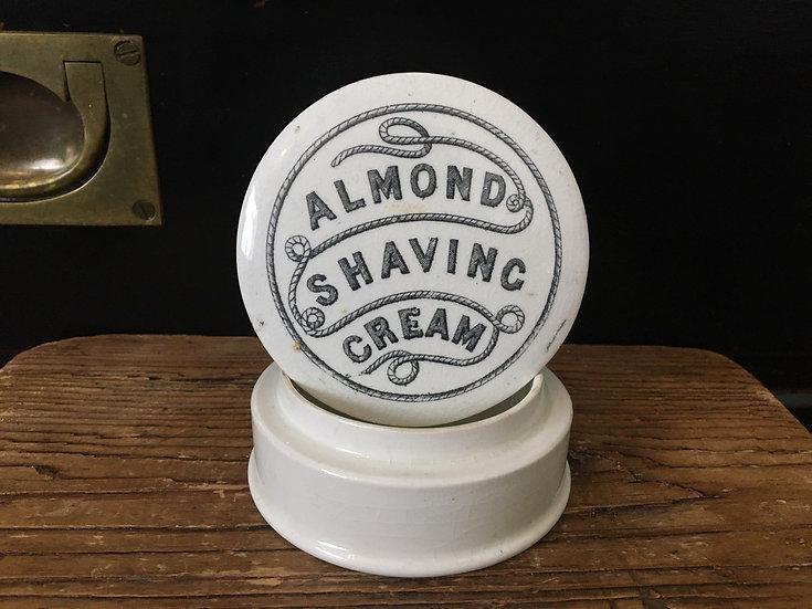 Victorian Almond shaving cream pot