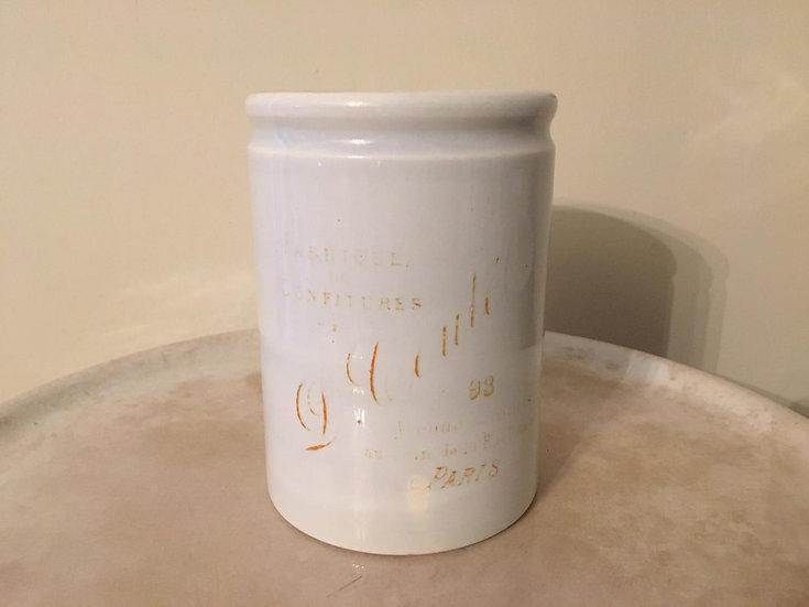 Antique Parisian ironstone confiture pot