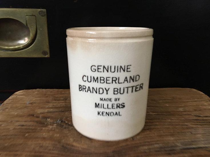 White ironstone Cumberland rum butter pot