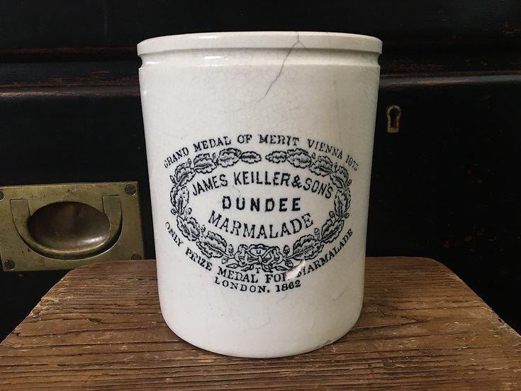 Antique 3lb James Keiller Dundee marmalade jar