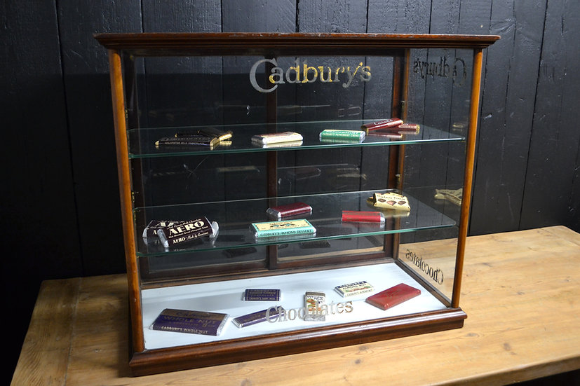 Edwardian Cadbury's Chocolate Display Case