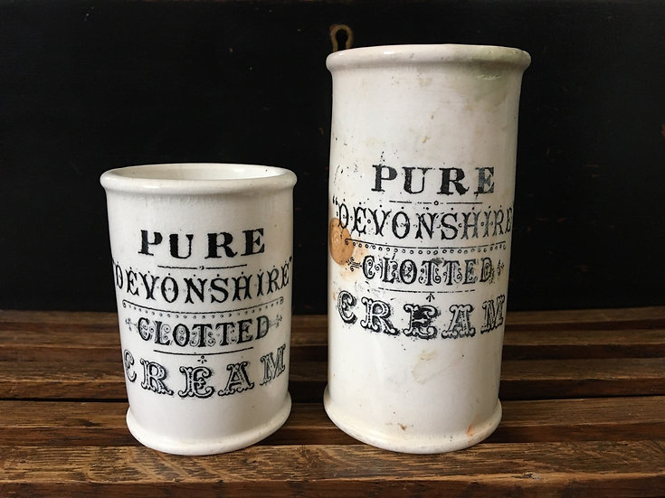 1x Large antique 'Pure Devonshire Clotted Cream' pot