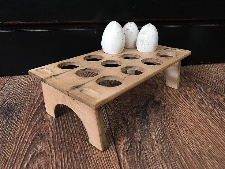 Antique stackable wooden egg rack - wooden egg tray