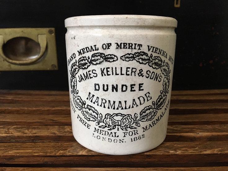 Antique 1lb Keiller marmalade pot