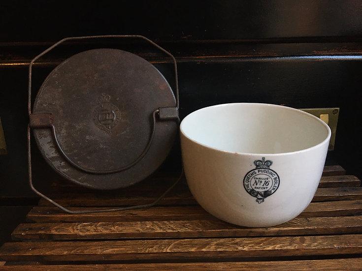 Antique Queens pudding boiler No 16