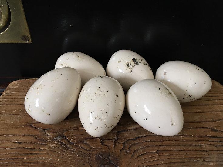 Set of 6 ceramic dummy eggs