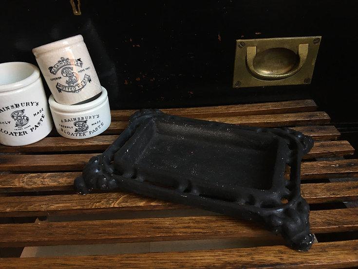 Antique French cast iron spittoon/crachoir