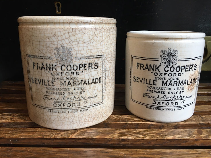 1x Antique 2lb Frank Cooper marmalade pot - Stained