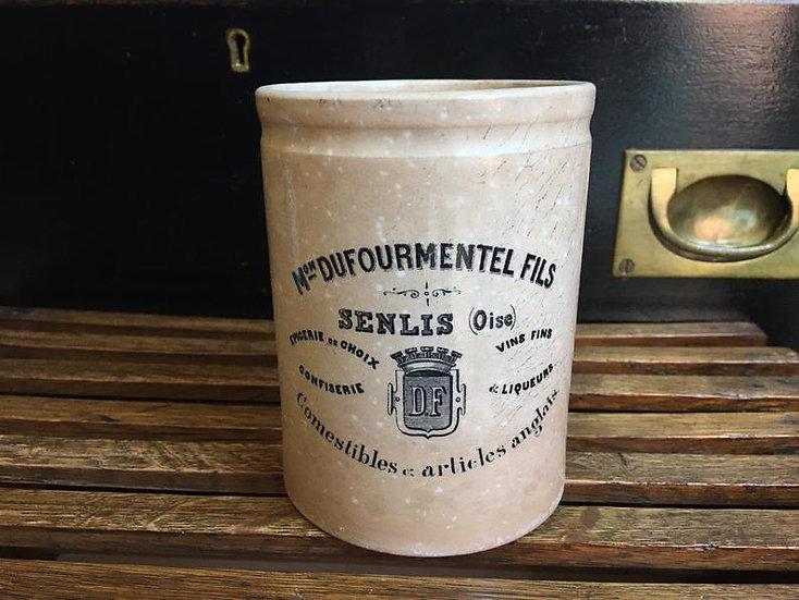 French Dufourmentel Fils Senlis pot - confiture pot Creil Et Montereau