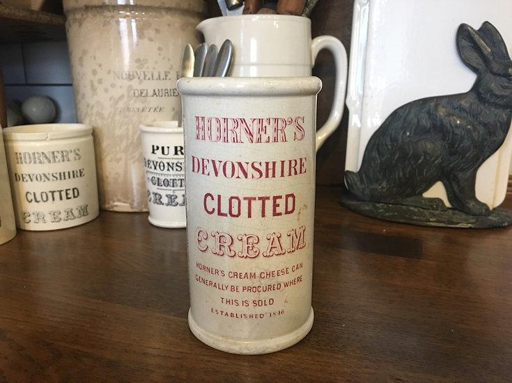 Antique Horner's devonshire clotted cream pot - pink