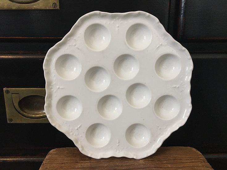 French white porcelain escargot dish
