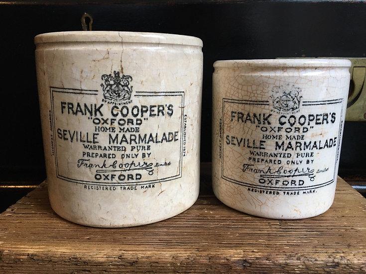 1x Antique 2lb ironstone Frank Cooper marmalade pot