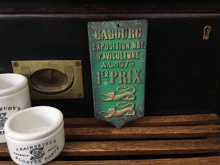 Vintage French Aviculture prize plaque - Cabourg