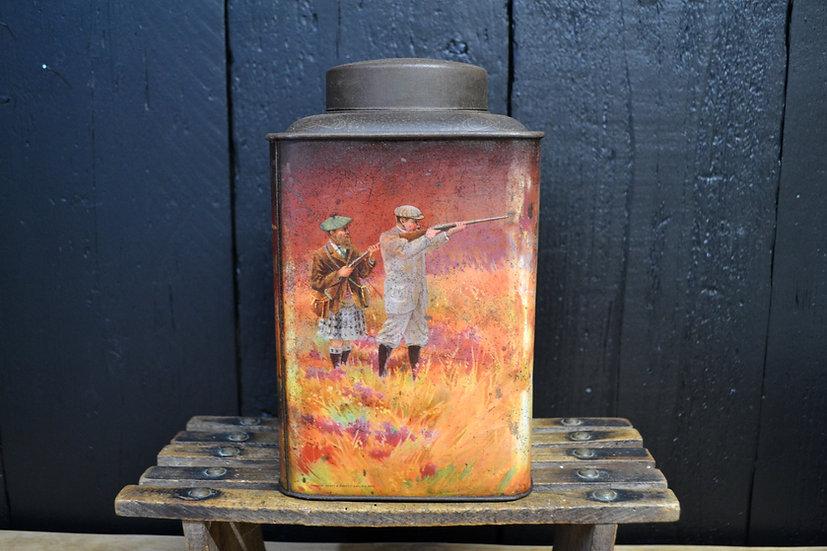 Hudson Scott & Sons 'Grouse hunt' tea tin
