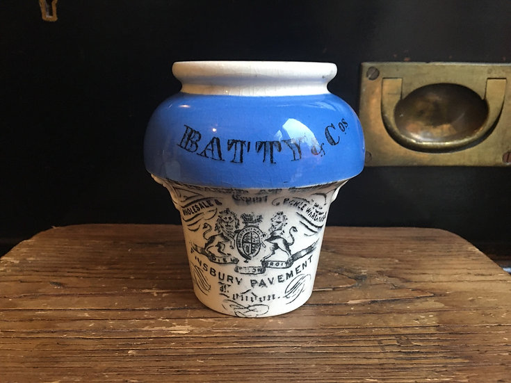 Antique 'Batty & Co' pickle or mustard pot