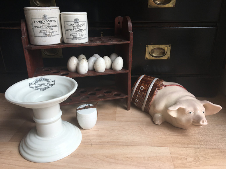 Antique butchers display