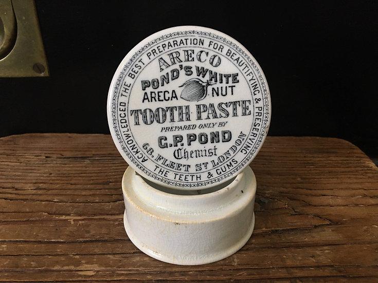 Antique Victorian Pond's tooth paste pot