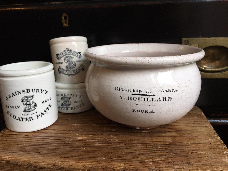 French epicerie/confiture pot - A. Rouillard Rouen