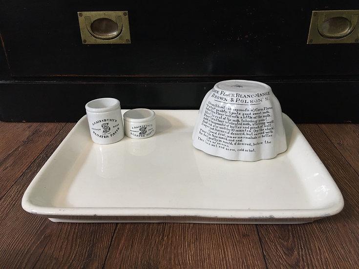 1x Antique Parnall white ironstone butcher's platter