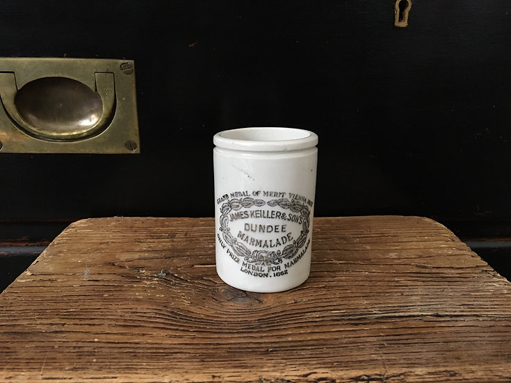 Small antique James Keiller marmalade pot