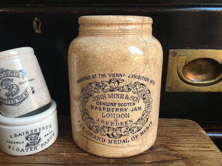 RARE Antique ironstone John Moir Scotch Raspberry jam pot