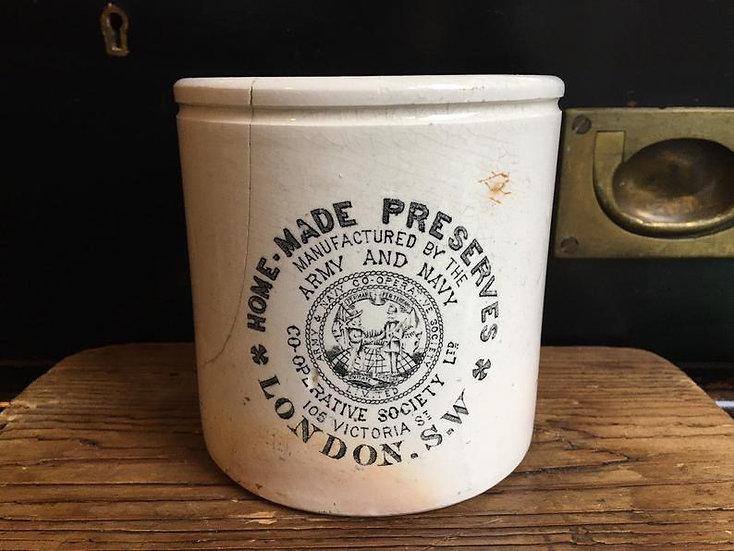 Antique 2lb Home Made Preserves pot - Army & navy co-operative society Ltd