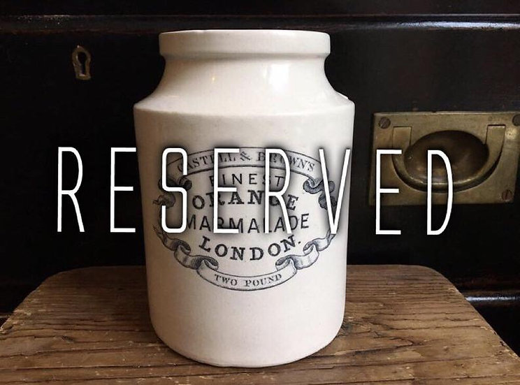 RESERVED- 2lb Castell & Browns Finest Orange Marmalade pot