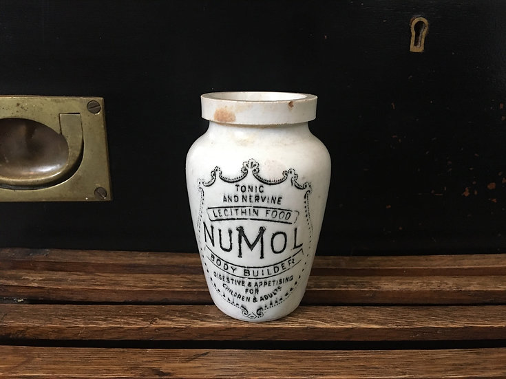 Antique stoneware Numol pot